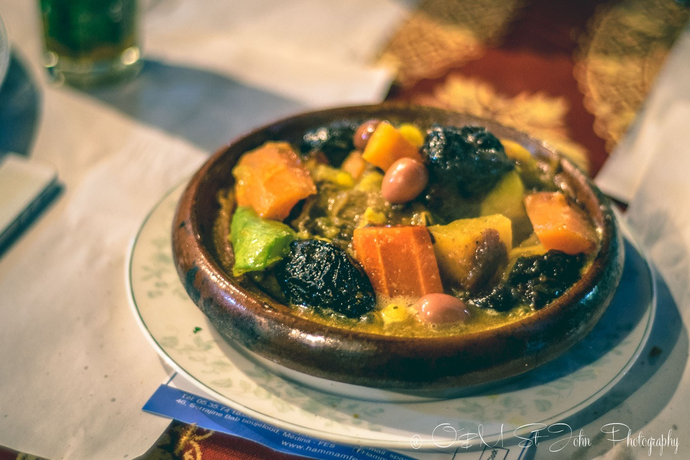 Moroccan food: Lamb, Prunes, and Almonds Tagine