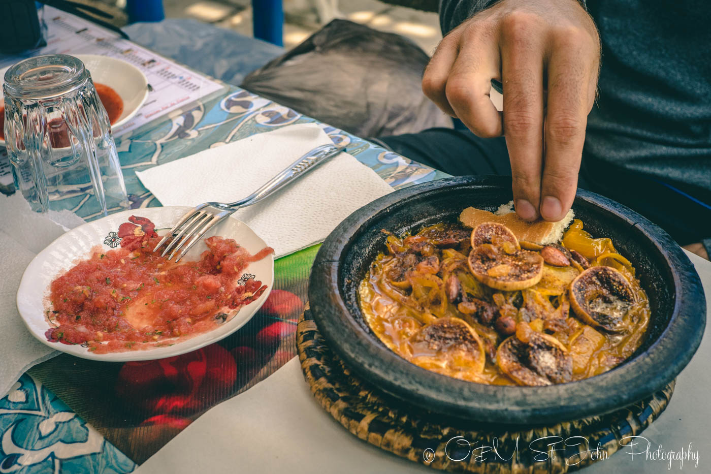 Moroccan food: Lamb, Figs, and Almonds Tagine