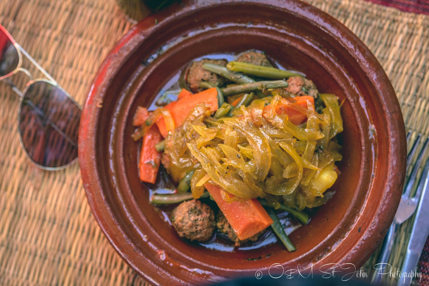 Moroccan food: Beef and vegetable tagine