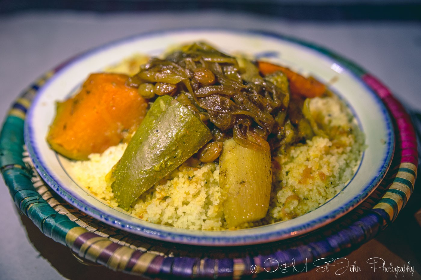 Moroccan food: Vegetarian couscous