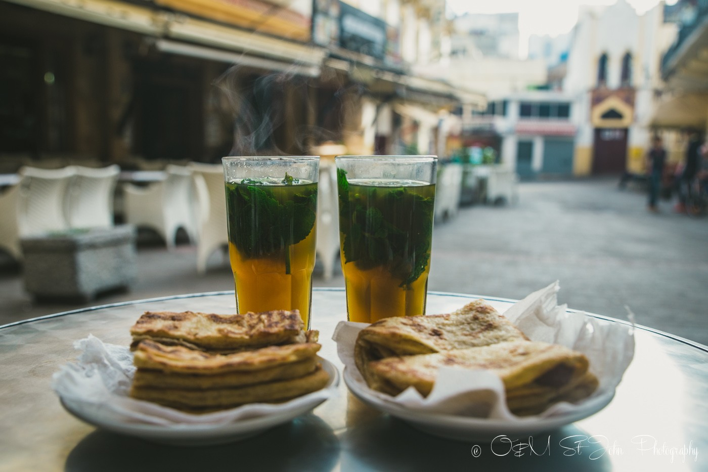 Moroccan Mint Tea at Cafe Tangir. Tangier. Morocco