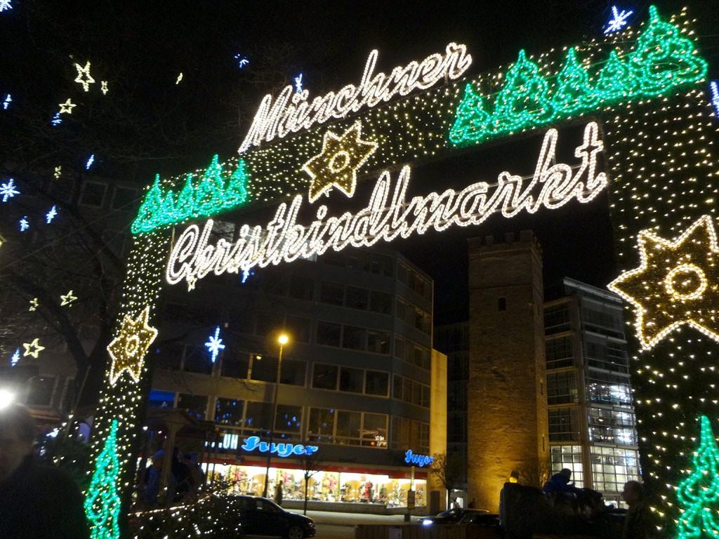 Munich Christmas Market Sign , Munich, Germany
