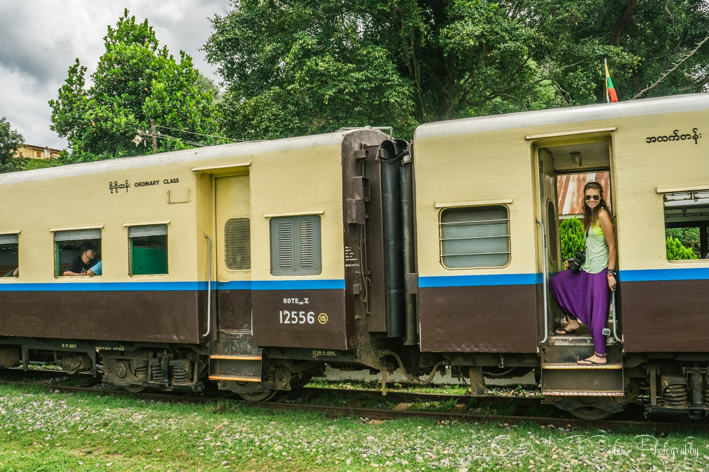 Old school train carriage. Hsipaw. Myanmar