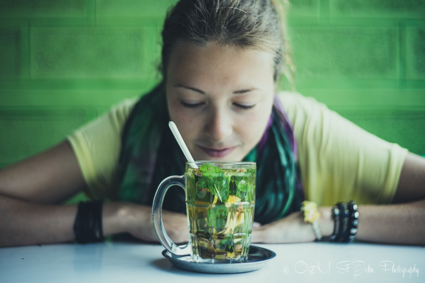 Ginger and mint tea at Sin Yaw Restaurant in Nyaungshwe, Inle Lake
