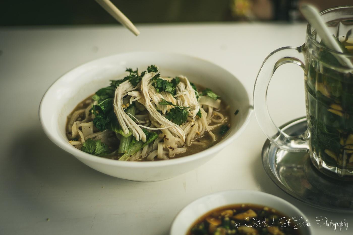 Shan noodles at Sin Yaw Restaurant in Nyaungshwe, Inle Lake