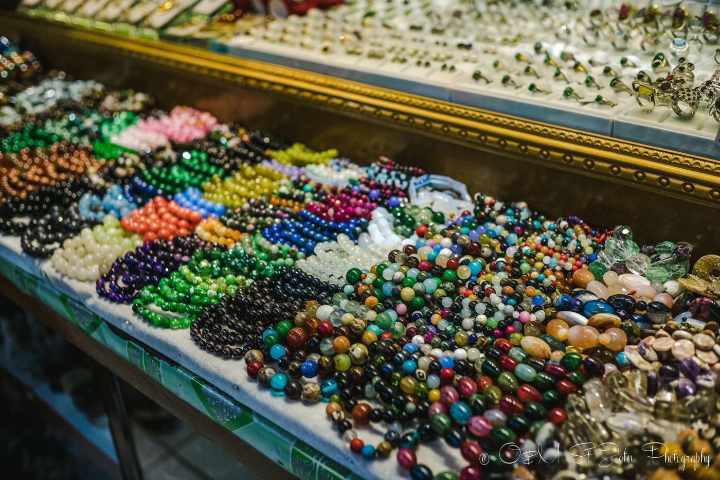 3 days in Yangon: Jewellery at Bogyoke Aung San Market. Yangon. Myanmar