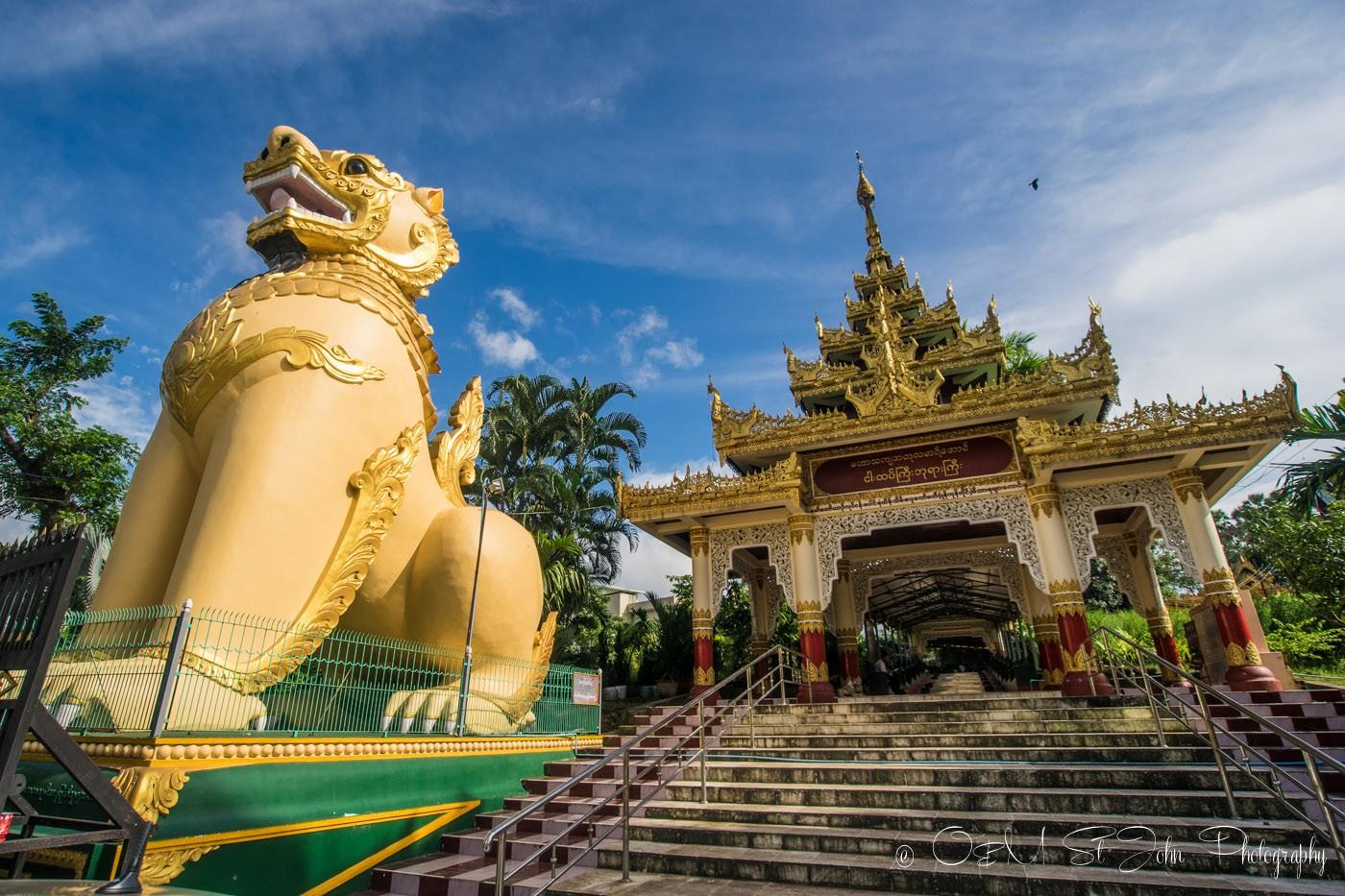 3 days in Yangon: Entrance to Shwedagon Pagoda. Yangon. Myanmar