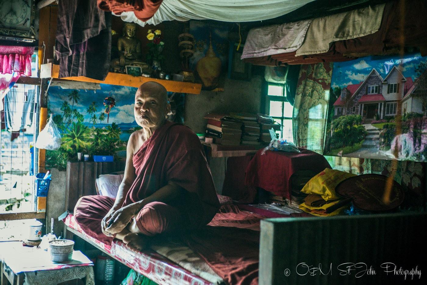 3 days in Yangon: Living quarters inside the monastery. Yangon. Myanmar