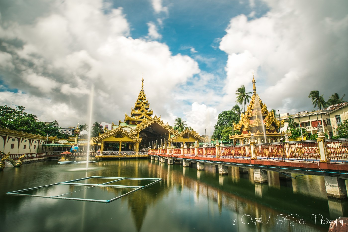 Kyay Thone Pagoda, just another stunning sight in Yangon. Myanmar