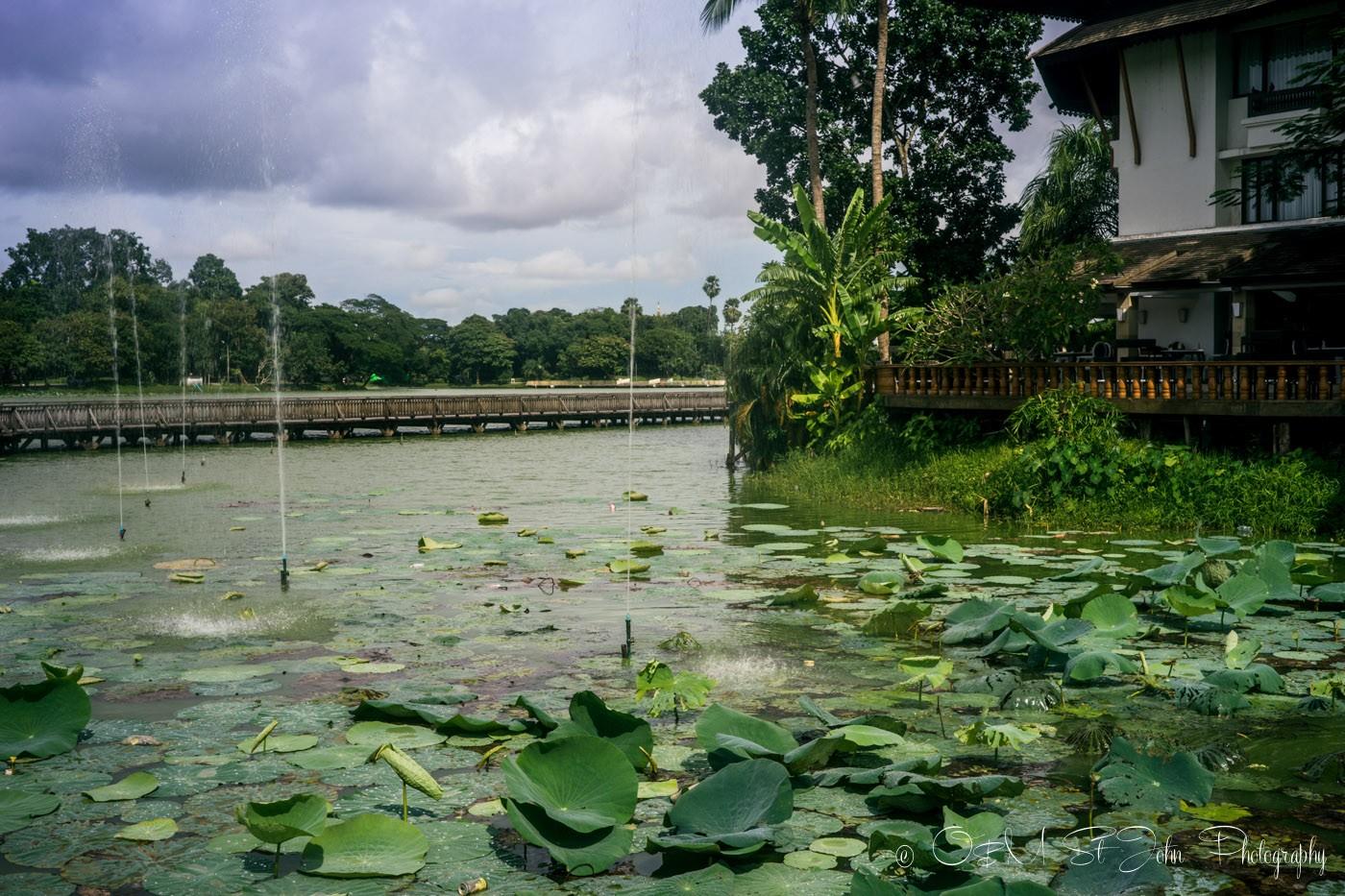 3 days in Yangon: Kandawgyi Park, Yangon. Myanmar