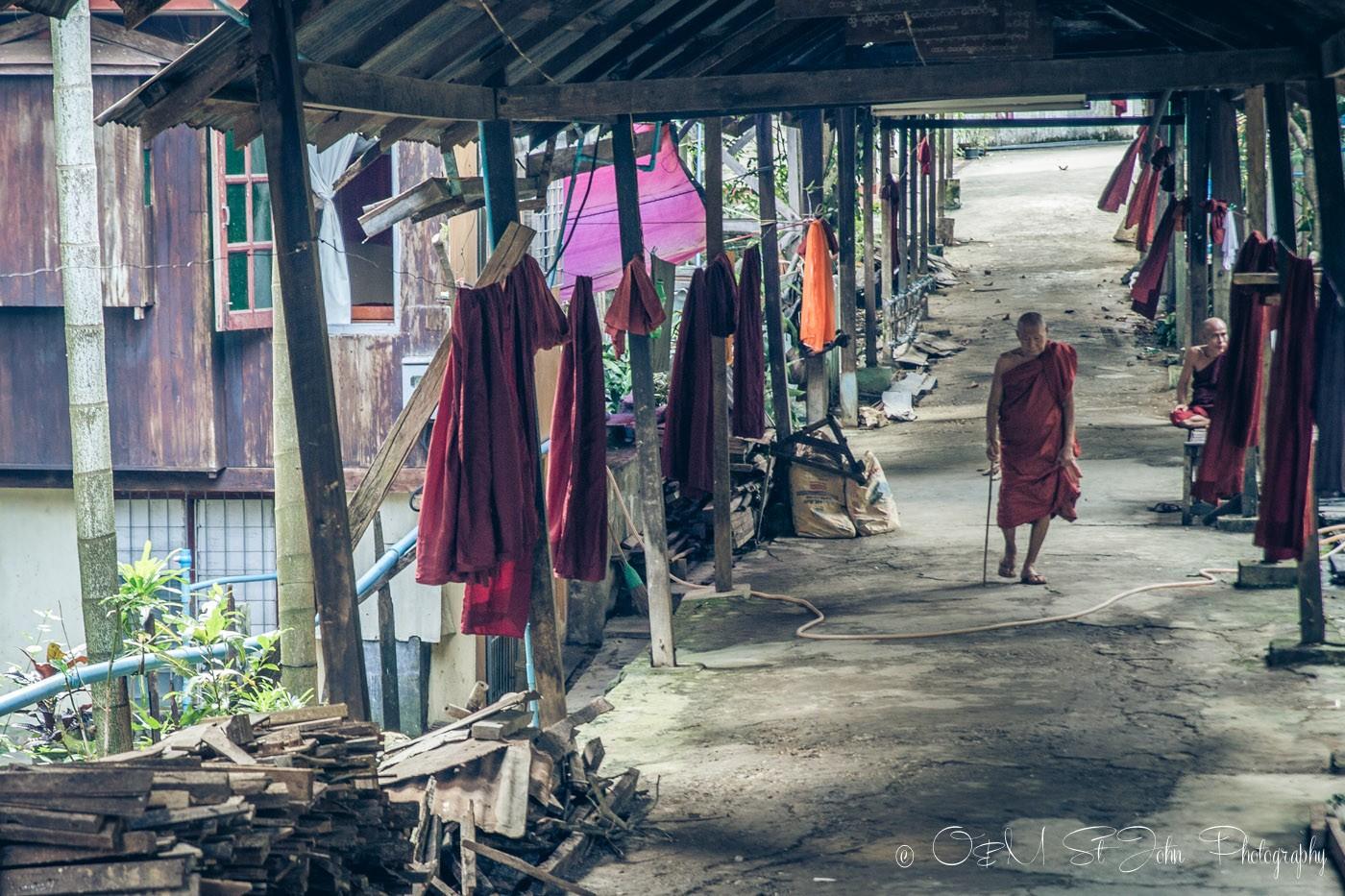 3 days in Yangon: Monastery in Yangon, Myanmar