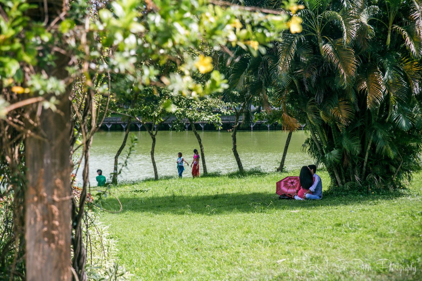Kandawgyi Park, Yangon. Myanmar