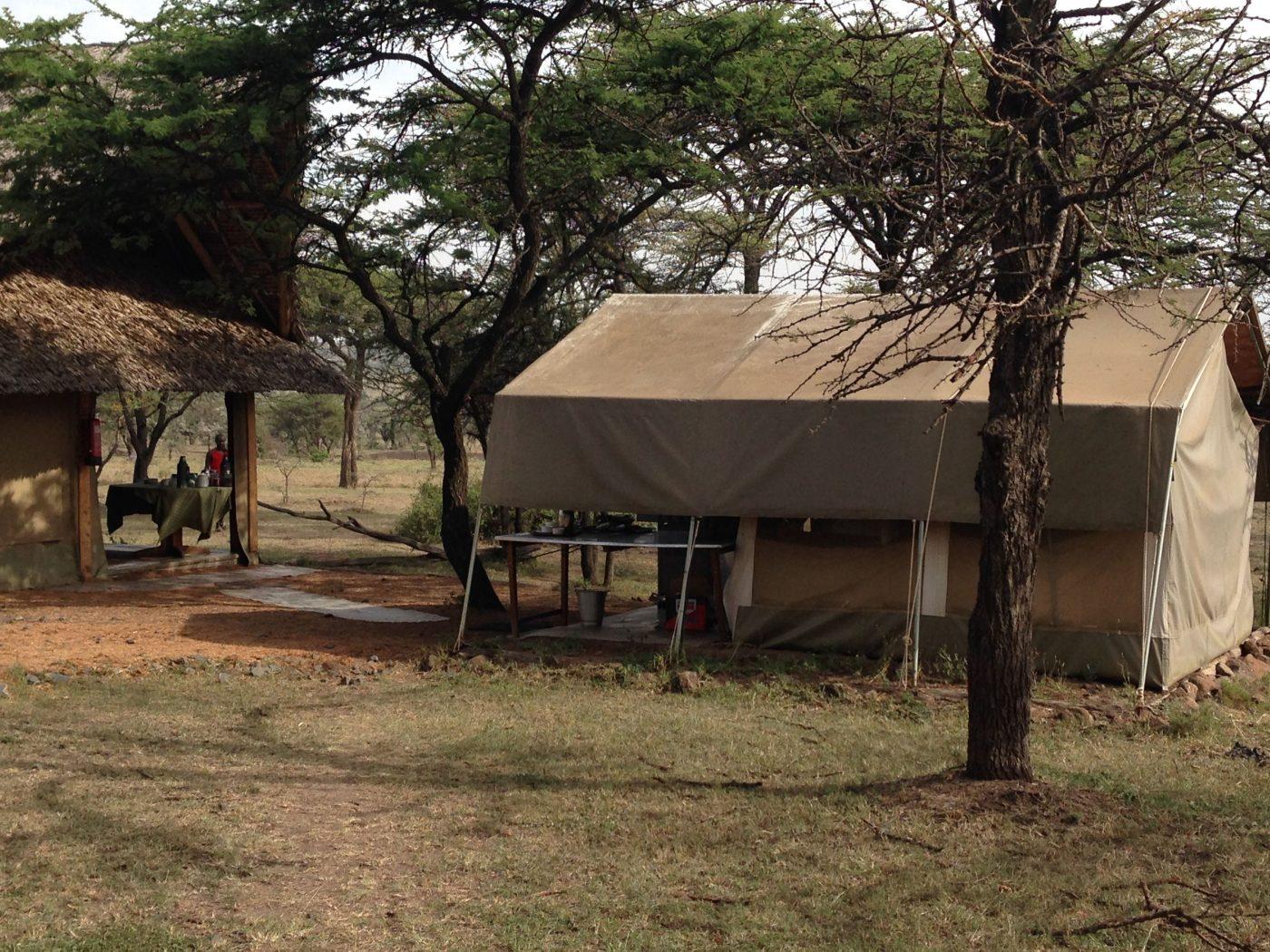 Safari Lodges in Kenya: Naboisho Camp Tent from outside