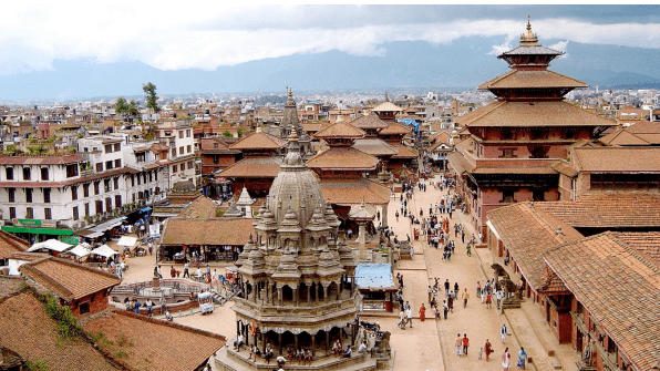 Fair trade in Nepal: view of Nepal from above