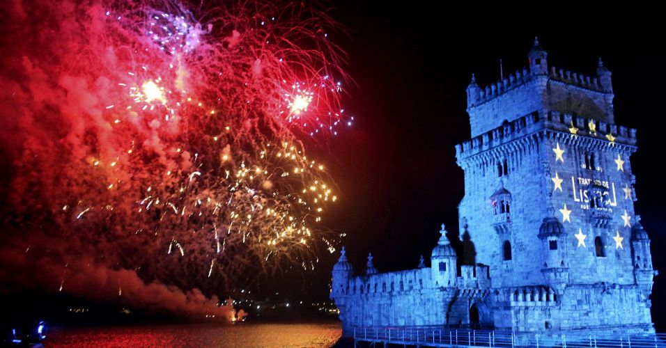 New Year's Eve celebrations in Lisbon