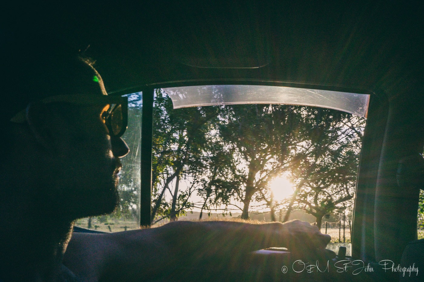 Max in taxi in Nicaragua