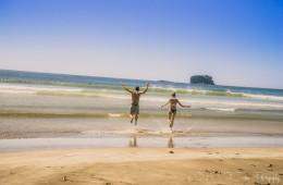 Enjoying Playa Hermosa's beautiful swimming beach. San Juan del Sur. Nicaragua