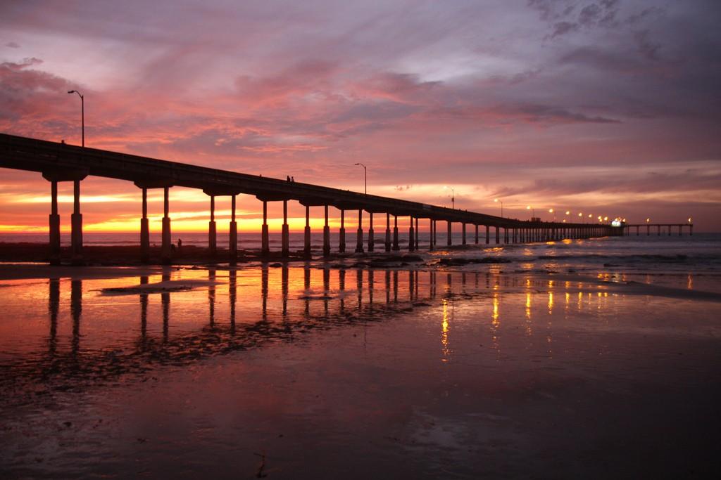 Ocean Beach Pier at Sunset San Diego