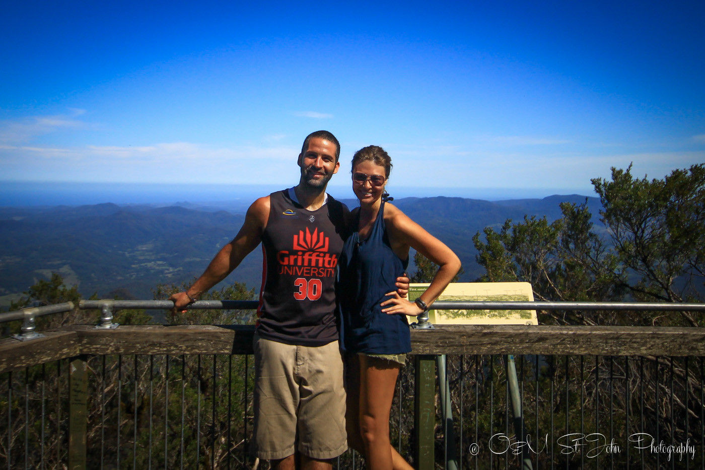 At the top of Mt Warning in Australia back in 2014