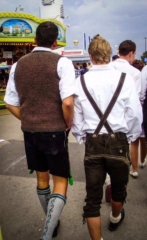 A few locals sporting their Lederhosen