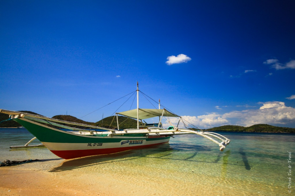 This type of boat can be hired to take you to smaller islands in Palawan