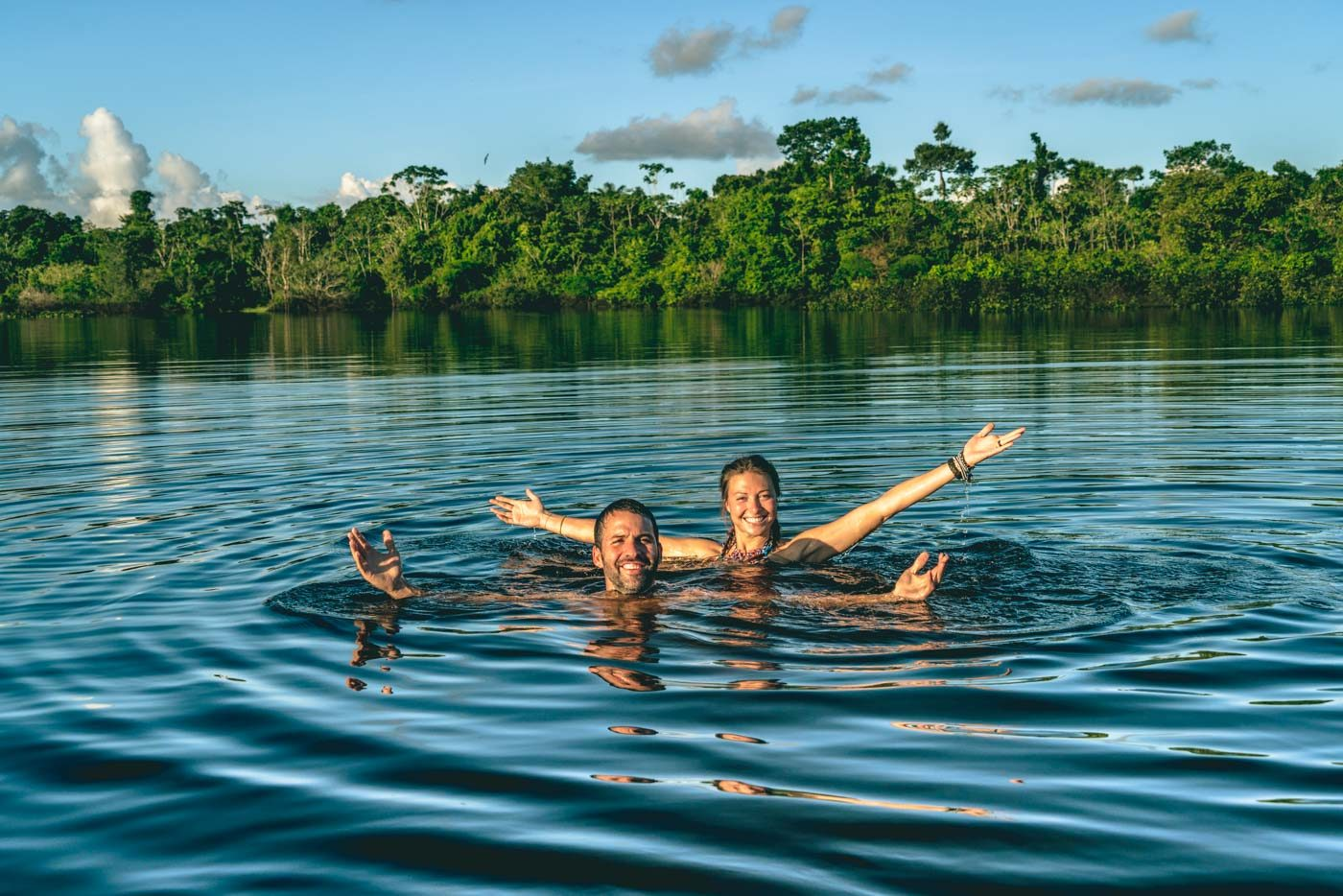 Waiting for dolphins in the Amazon River