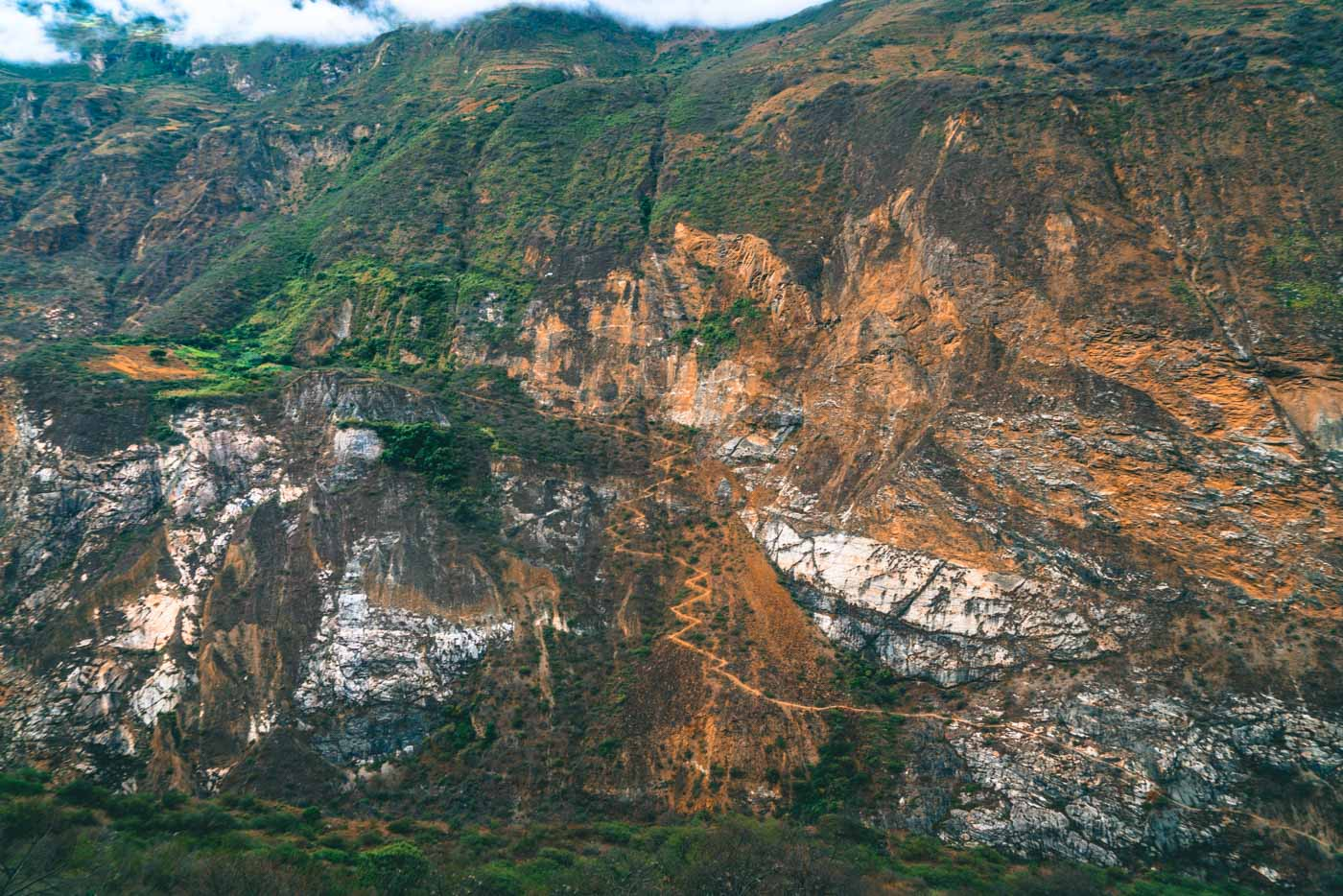 Zig Zag trail en route to Choquequirao, Cusco Region, Peru