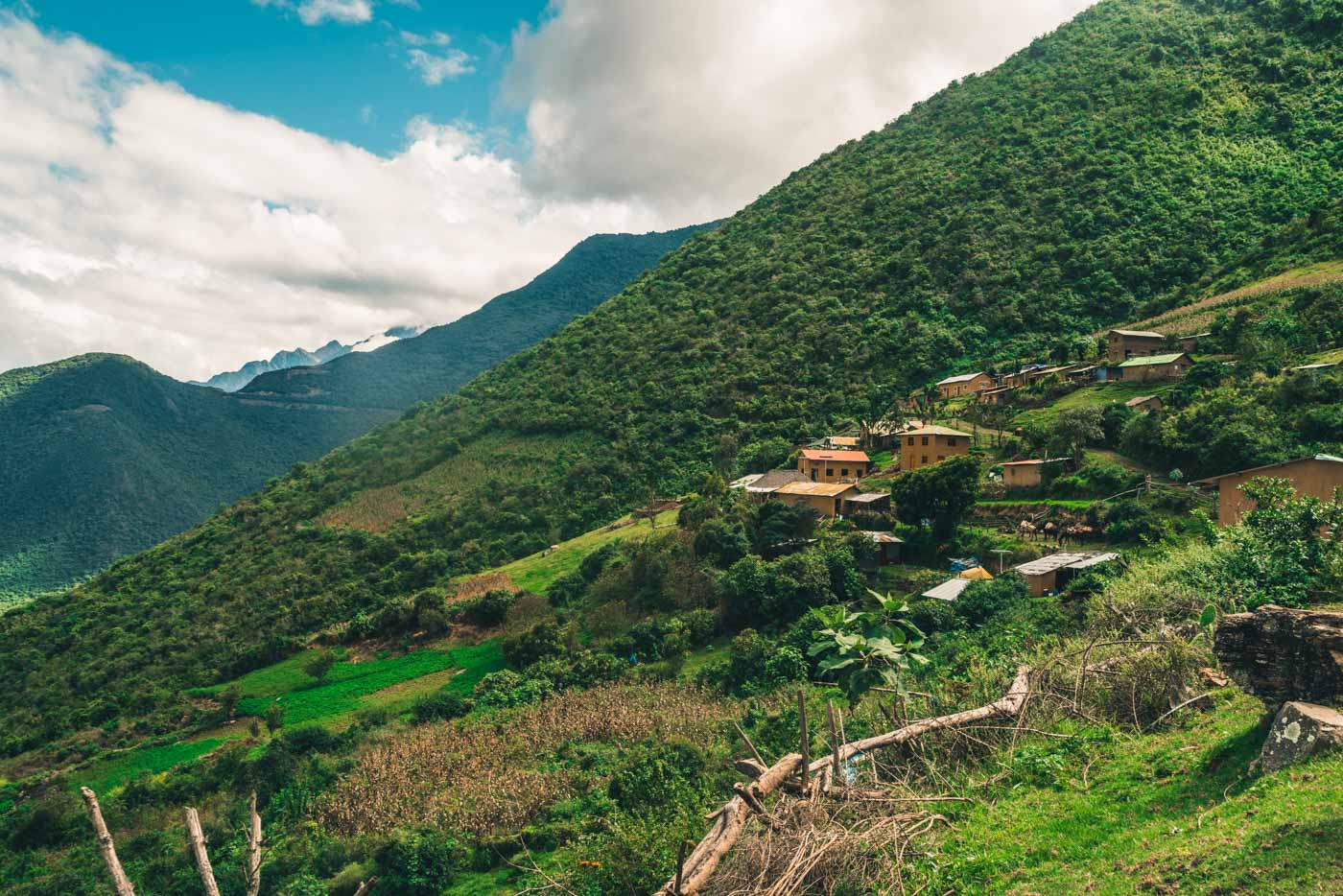 Village of Marampata en route to Choquequirao, Cusco Region, Peru