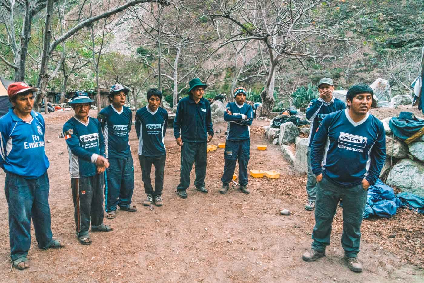 Our team of porters and cooks