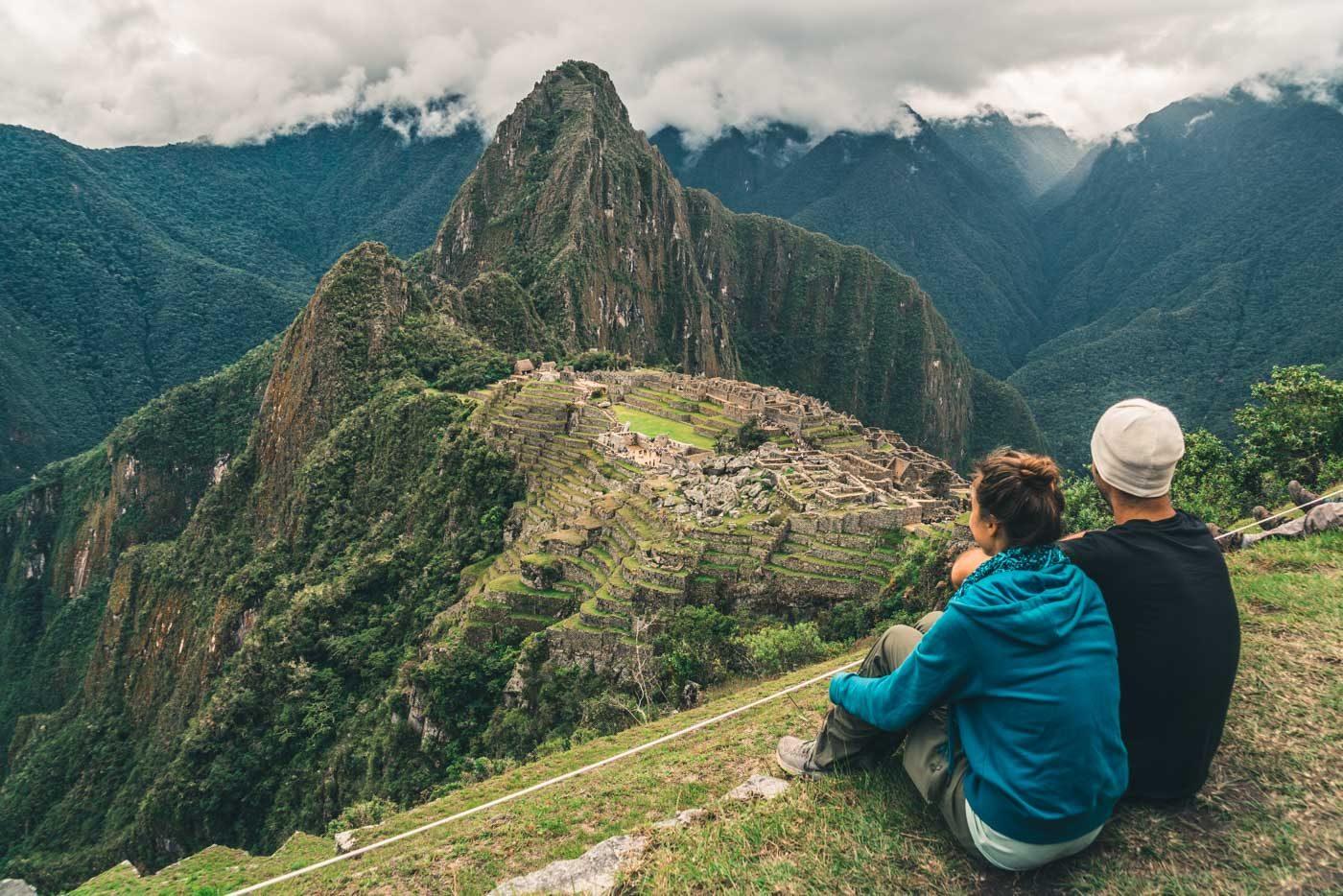 Overlooking Machu Picchu, Peru