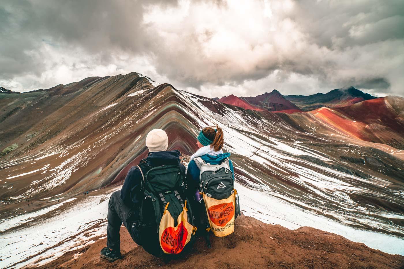 Overlooking Rainbow Mountain, Cusco, Peru