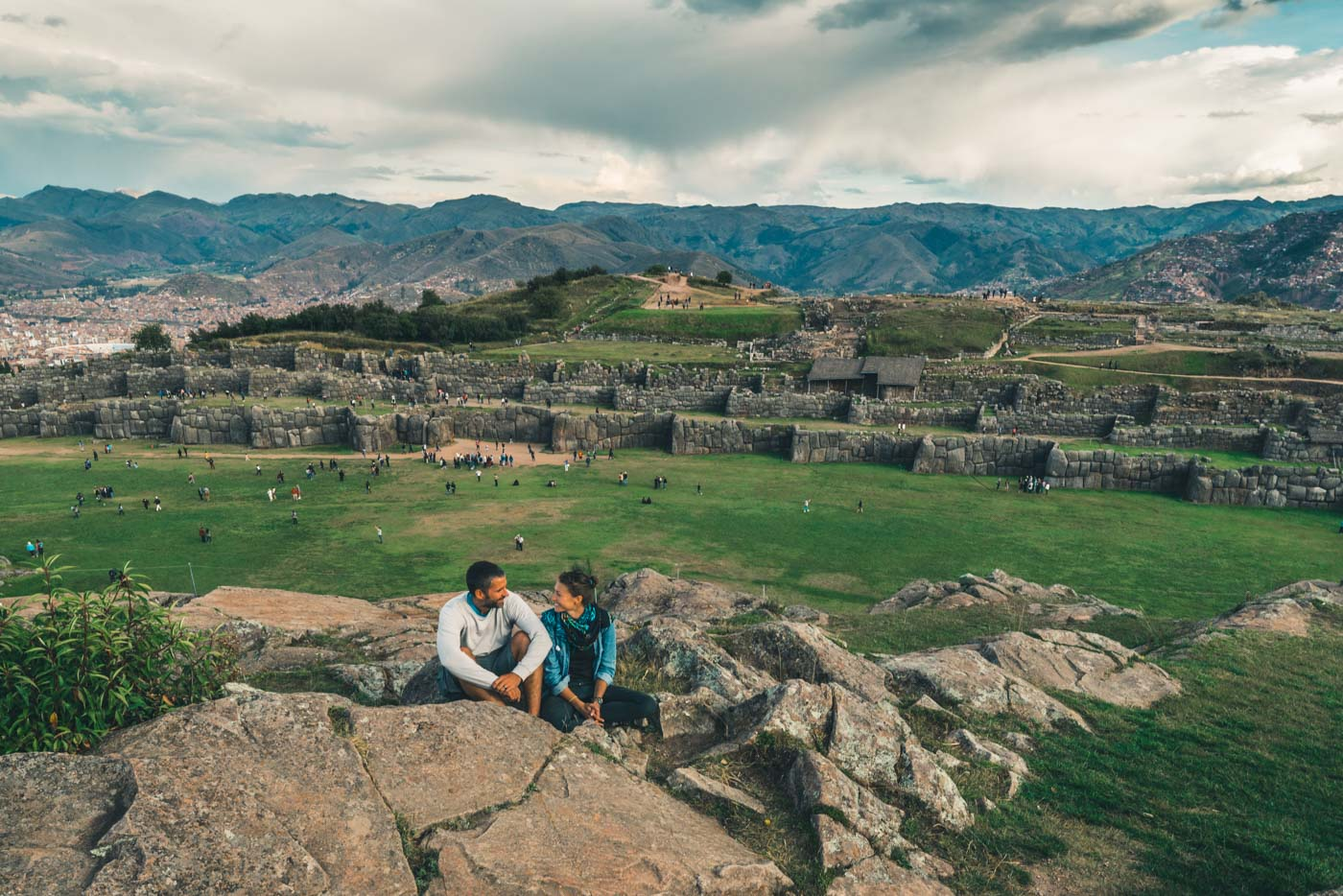 At the Sacsayhuaman Ruins in Cusco, Peru