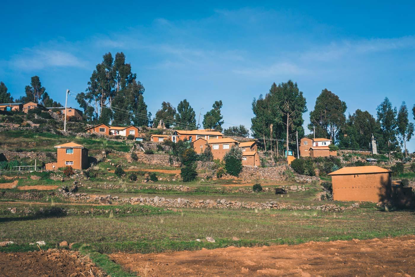 The humble village on Amantani Island