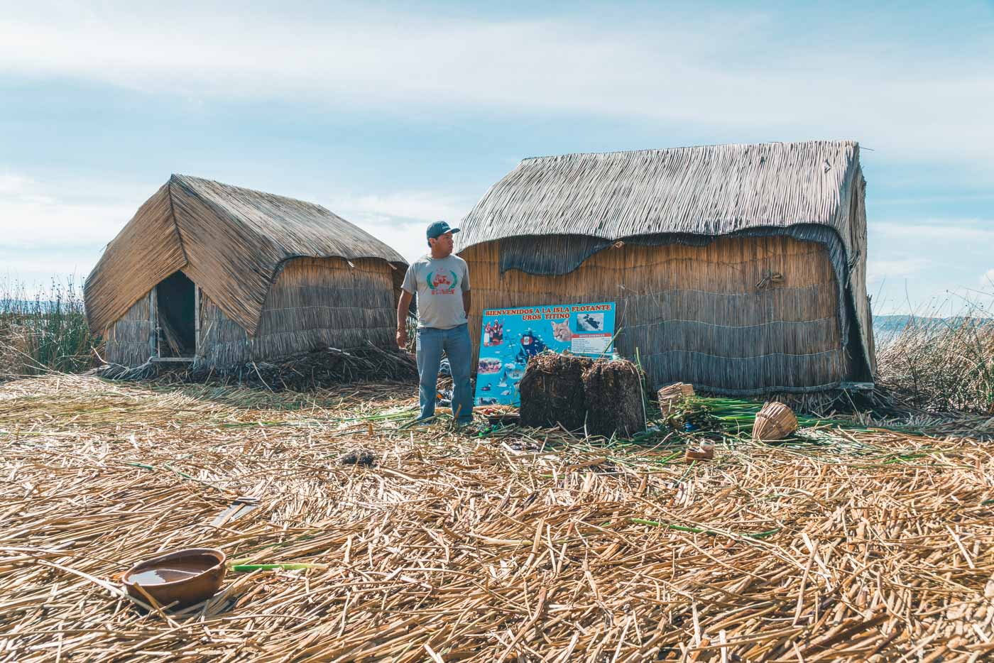 Our guide sharing insights about life on Uros Islands