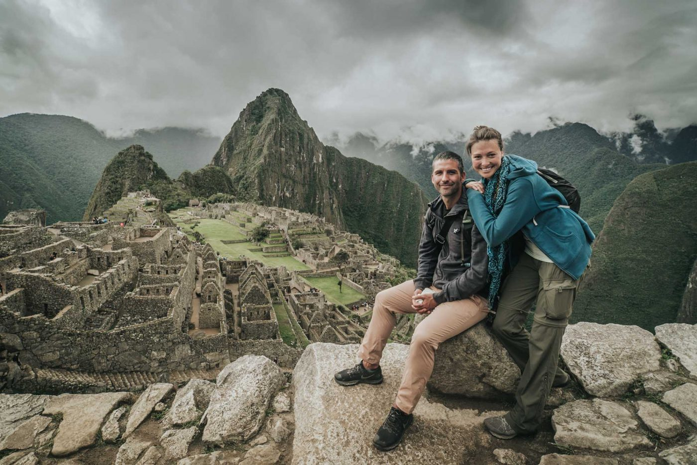 Arriving after taking the train to Machu Picchu