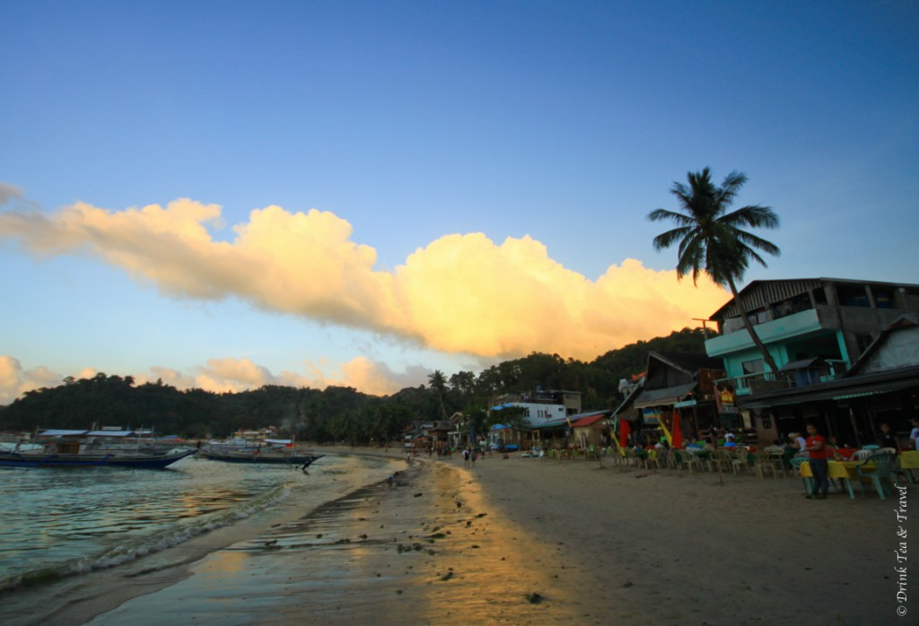 El Nido, Palawan. Where your dinner won't cost you more than $3-5 and your hard saved dollars can last you for a while.