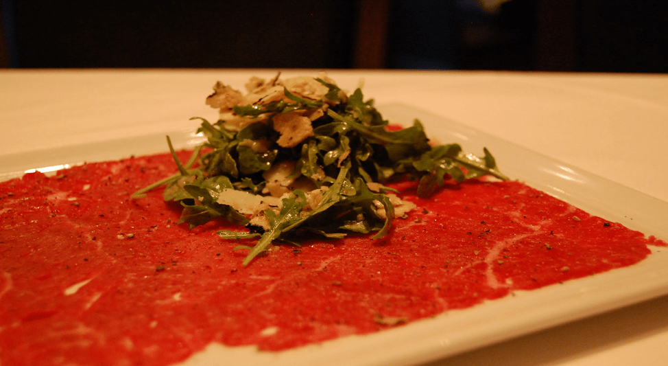What to do in Valletta: Carpaccio food
