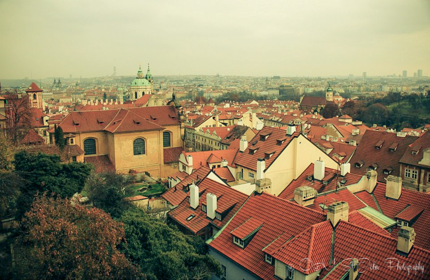 Europe Itinerary: View of Prague from Petrin Hill