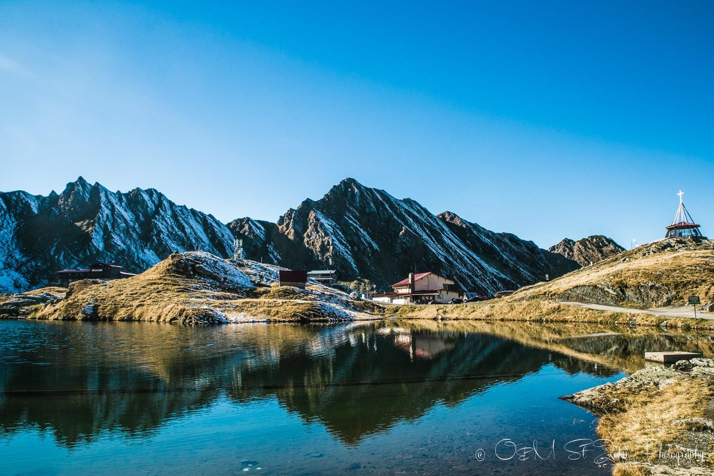 Balea Lake. Transylvania. Romania