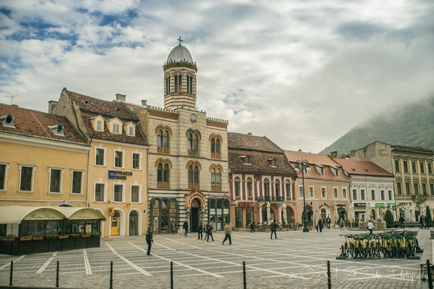 Shops in Piaţa Sfatului, Brașov. Romania