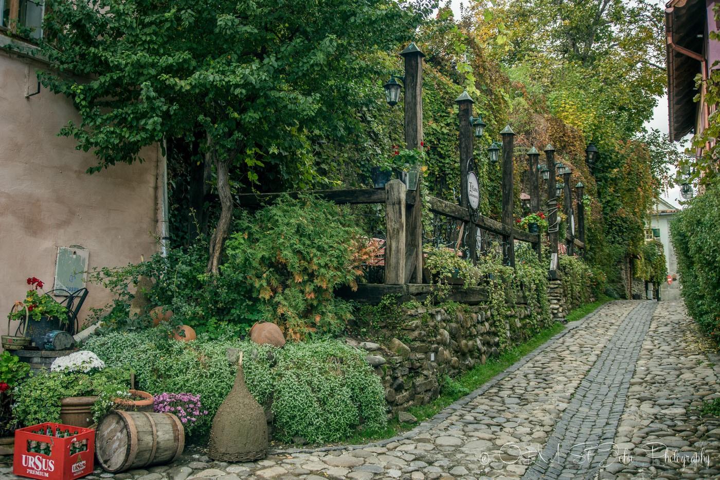 Charming street in Sighisoara. Romania