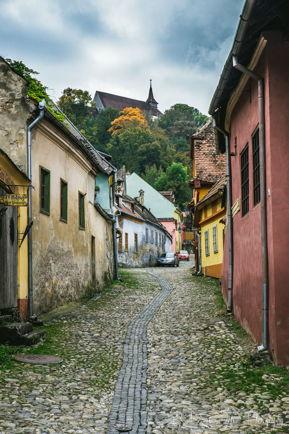 Street in Sighisoara. Romania