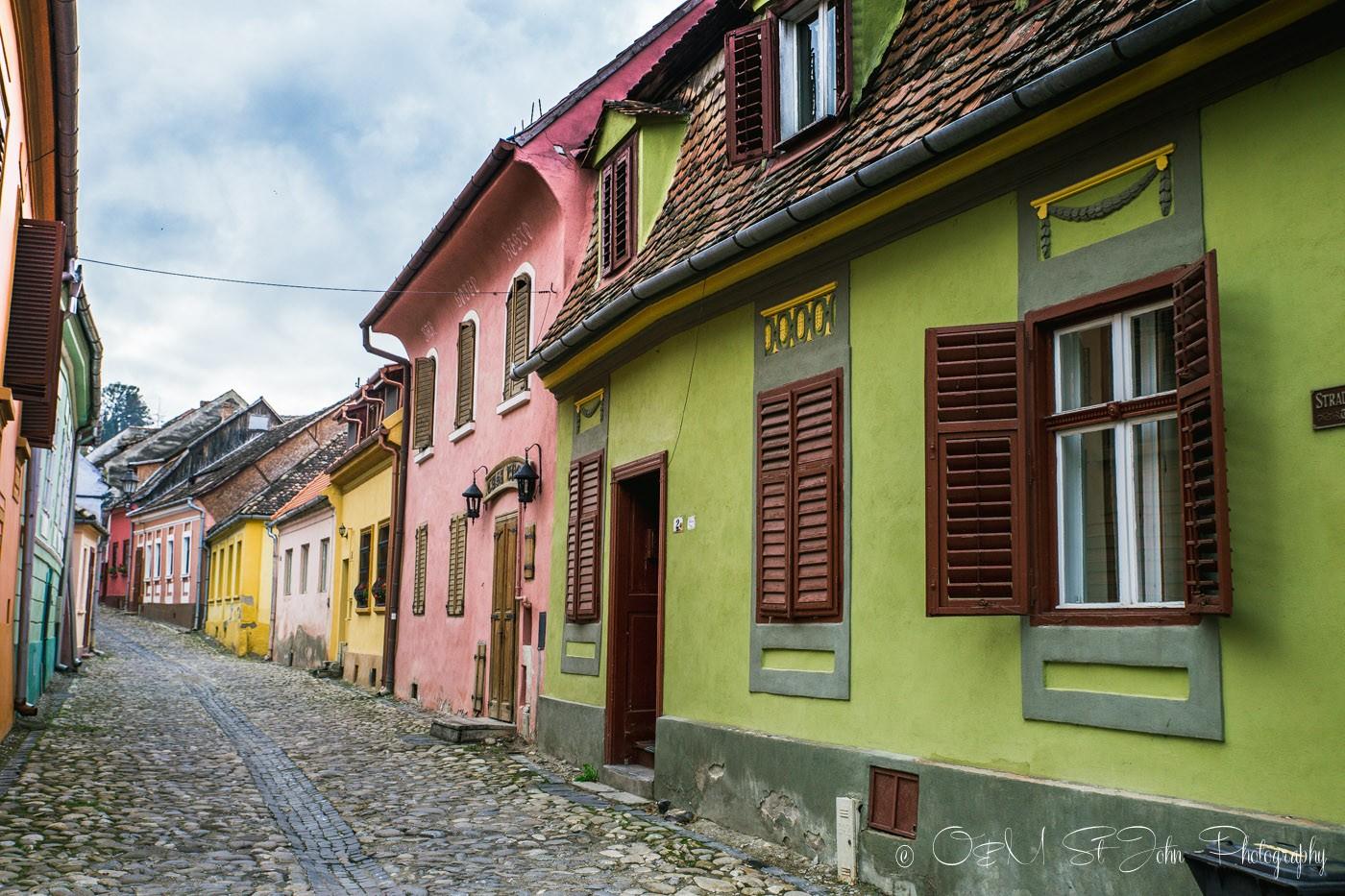 Colourful houses in Sighisoara, Romania