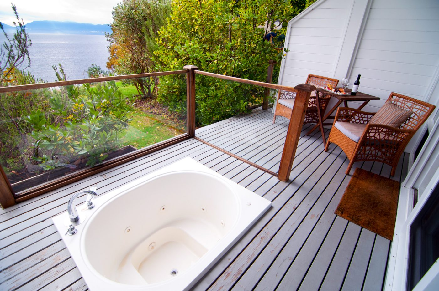 luxury resorts in british columbia: Sooke Harbour House private balcony