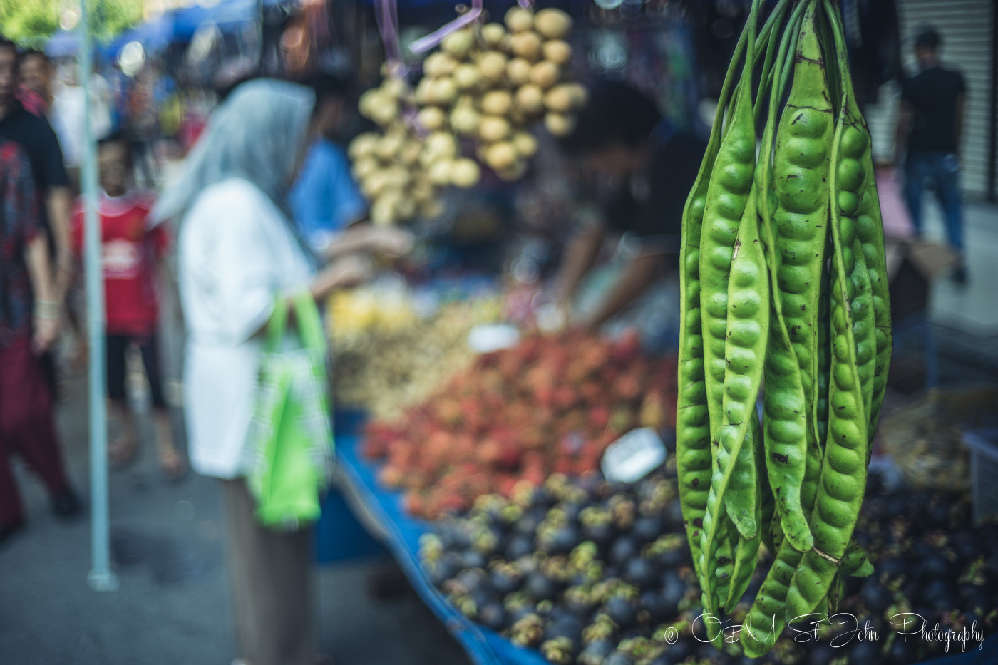 Fruits and veggies for sale at Gaya Street Sunday Market, Kota Kinabalu. Sabah. Malaysia