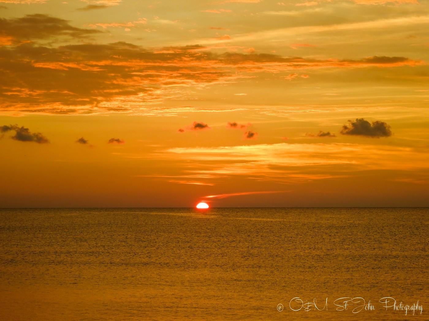 Sunset at Mañana Borneo Resort, Sabah