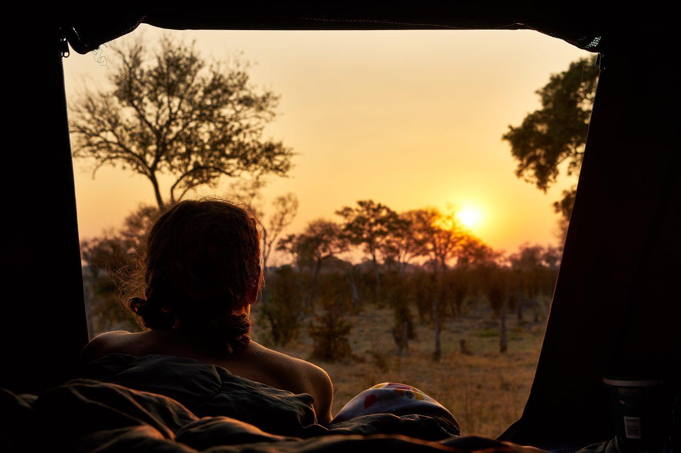 Minimalism: Watching the Safari Sunset
