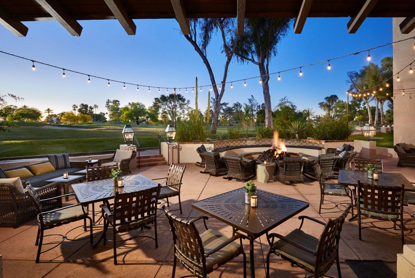 eco-friendly winter getaway: patio of Scottsdale