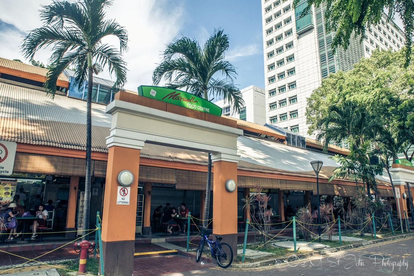 Stopover in Singapore: Maxwell Food Centre. Hawker Centre. Singapore