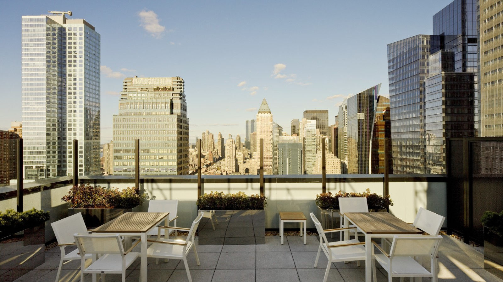 New York skyline. View from the Element Hotel. Photo via Element Hotel Times Square West.